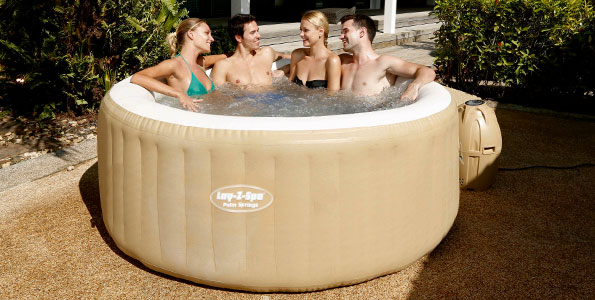 Lay-Z-Spa Palm Springs HydroJet Inflatable Portable Hot Tub Spa