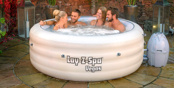 Lay-Z-Spa Vegas Inflatable Portable Hot Tub Spa