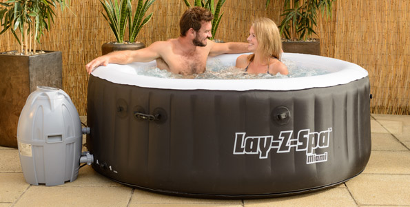 Lay-Z-Spa Miami Inflatable Portable Hot Tub Spa