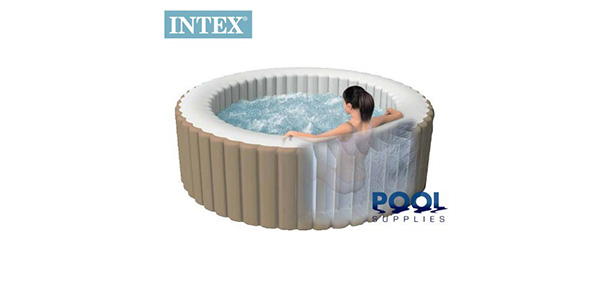Intex PureSpa Deluxe Inflatable 4 Person Portable Spa Hot Tub