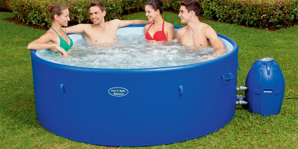 Lay-Z-Spa Monaco Inflatable Portable Rigid Hot Tub Spa