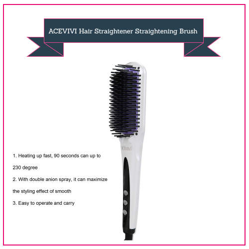 ACEVIVI Hair Straightener Straightening Brush