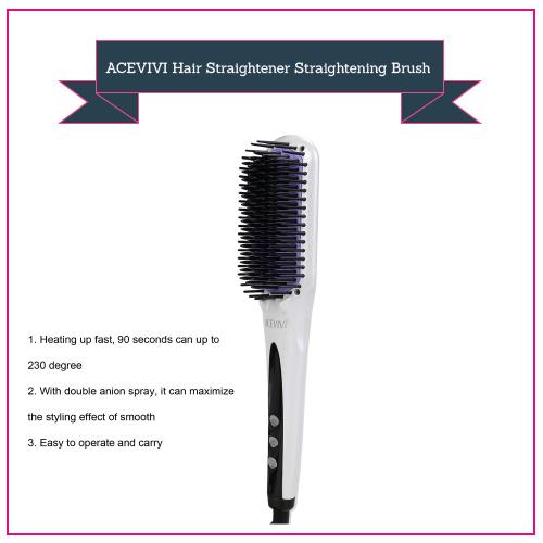 ACEVIVI Hair Straightener Straightening Brush