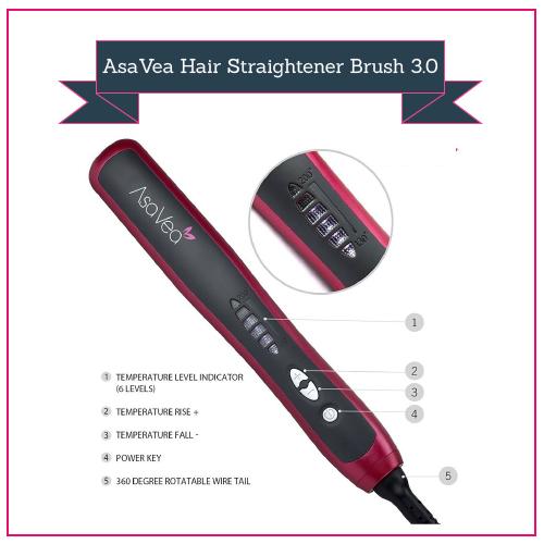 Asavea Hair Straightener Straightening Brush 3.0