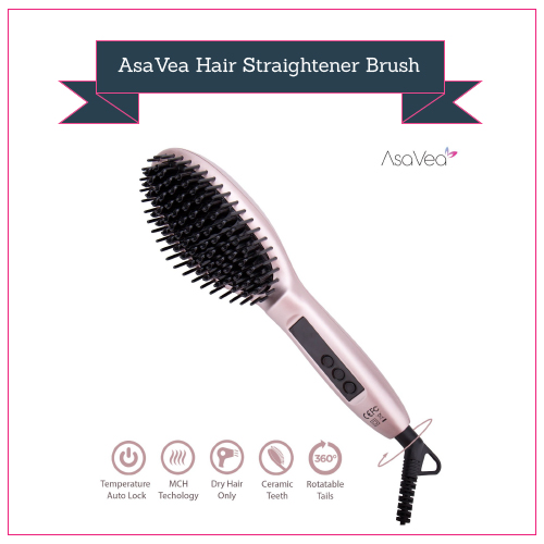 AsaVea Hair Straightener Brush