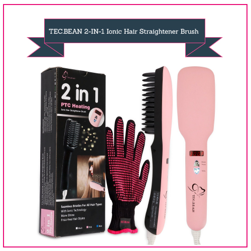 TEC.BEAN 2-IN-1 Ionic Hair Straightener Brush
