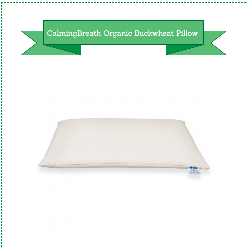 CalmingBreath 100% Organic Buckwheat Pillow