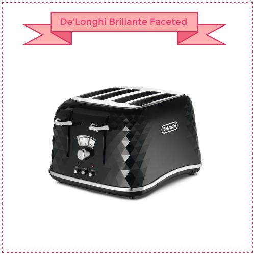 DeLonghi Brillante Faceted 4 Slice Toaster